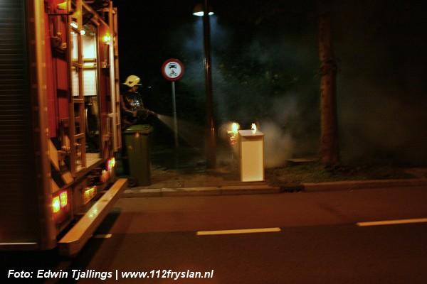 Huisvuilcontainer verwoest door brand