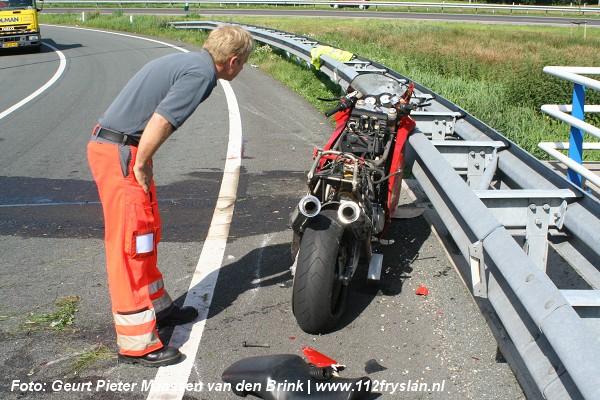 Motorrijder overlijd na val in bocht van A7 (UPDATE!)