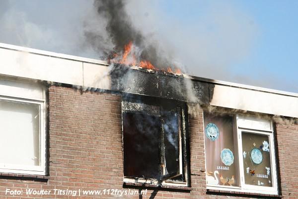 Slaapkamers verwoest door brand
