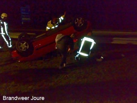 A7 afgesloten na eenzijdig ongeval