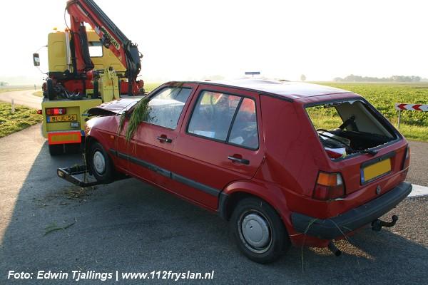 Traumaheli ingezet bij auto over de kop