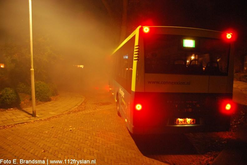Oefening : Supportersbus ramt auto