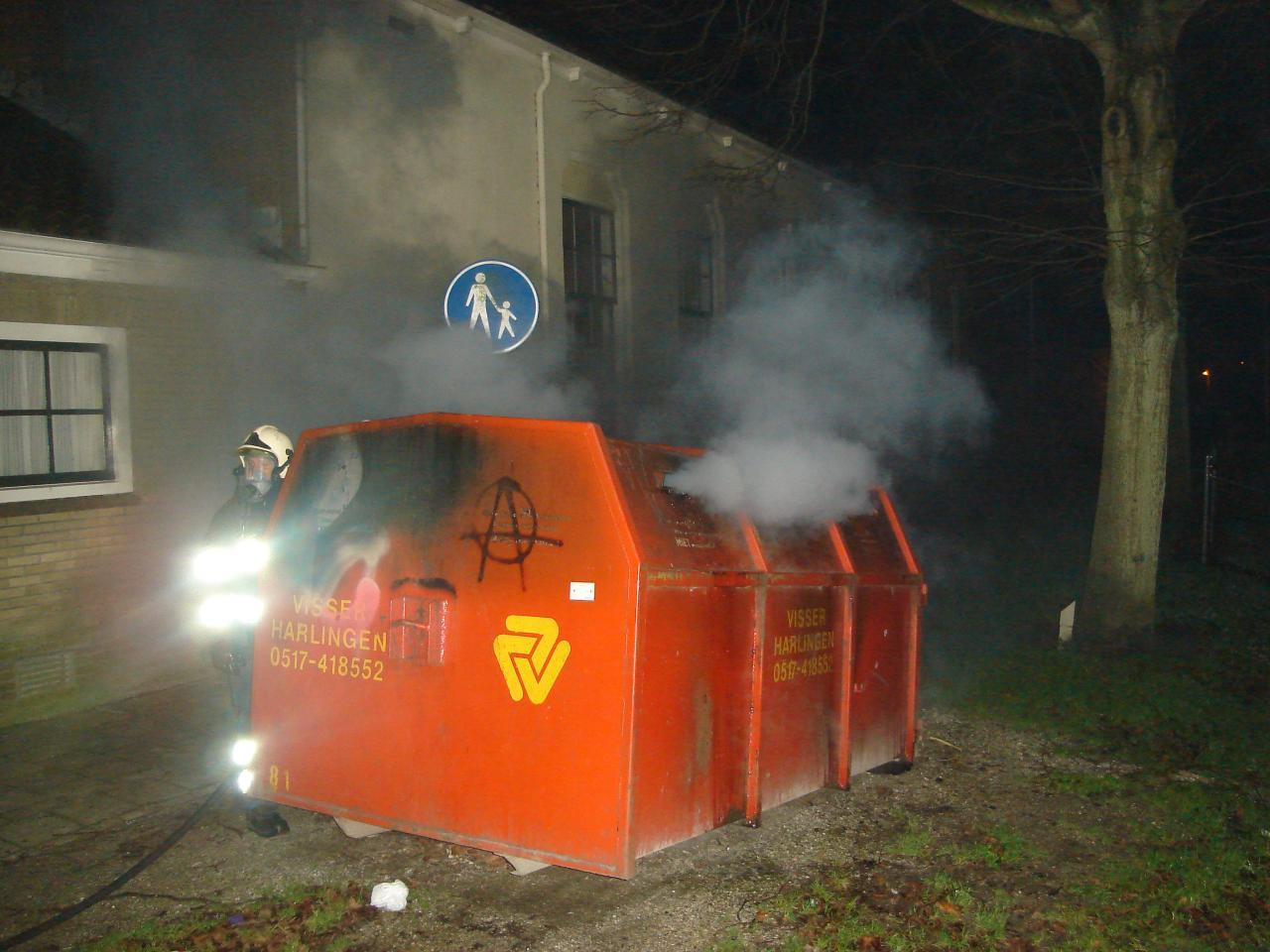 Containerbrand Stedelijke muziek vereniging