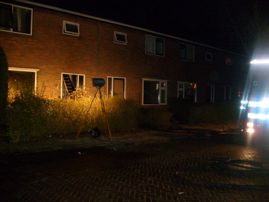 Bank in woonkamer in brand
