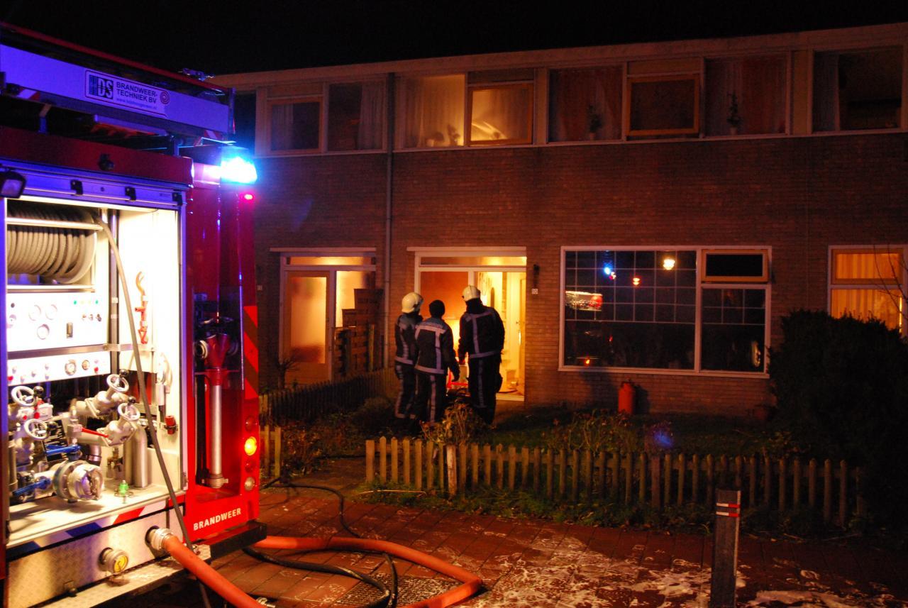 Brand in een woning in Wergea