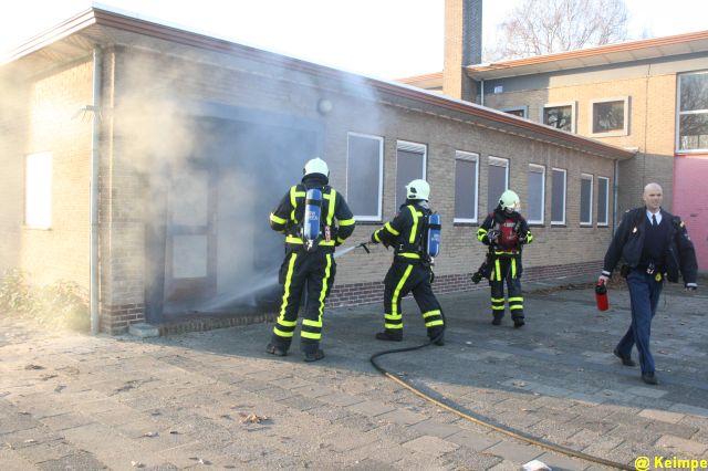 Bedrijfsbrand blijkt buitenbrandje