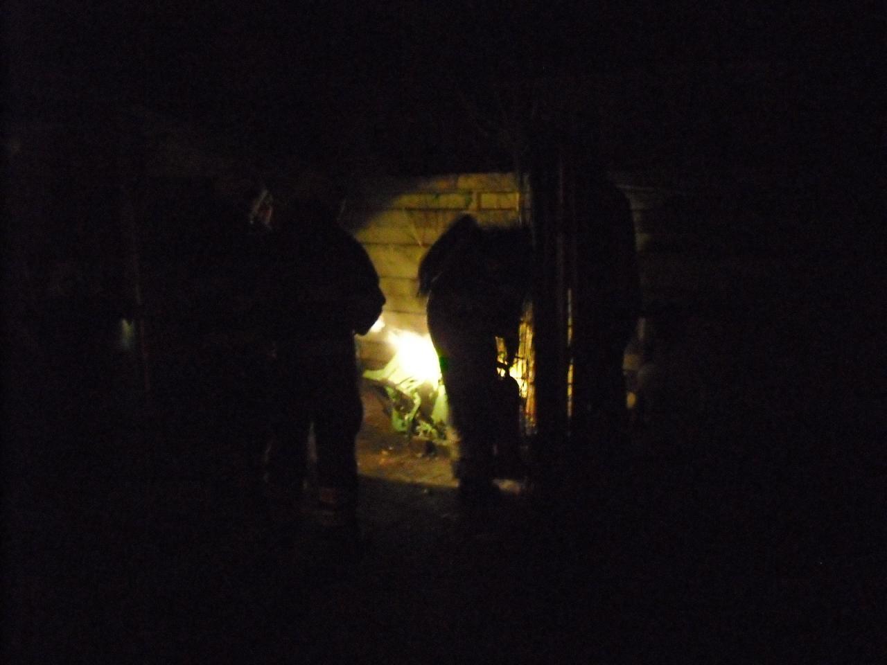 Brandje achter woning in Balk