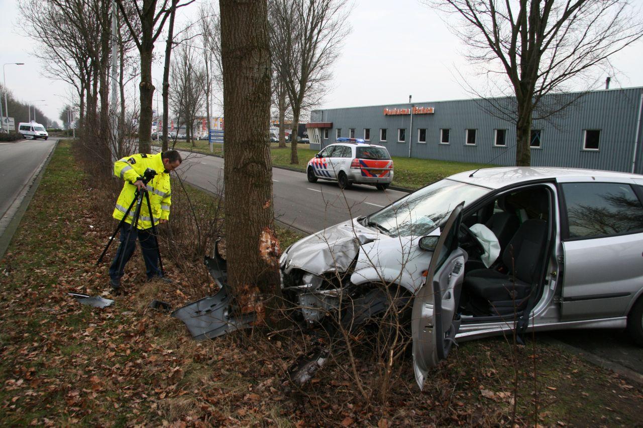 Nissan tegen boom