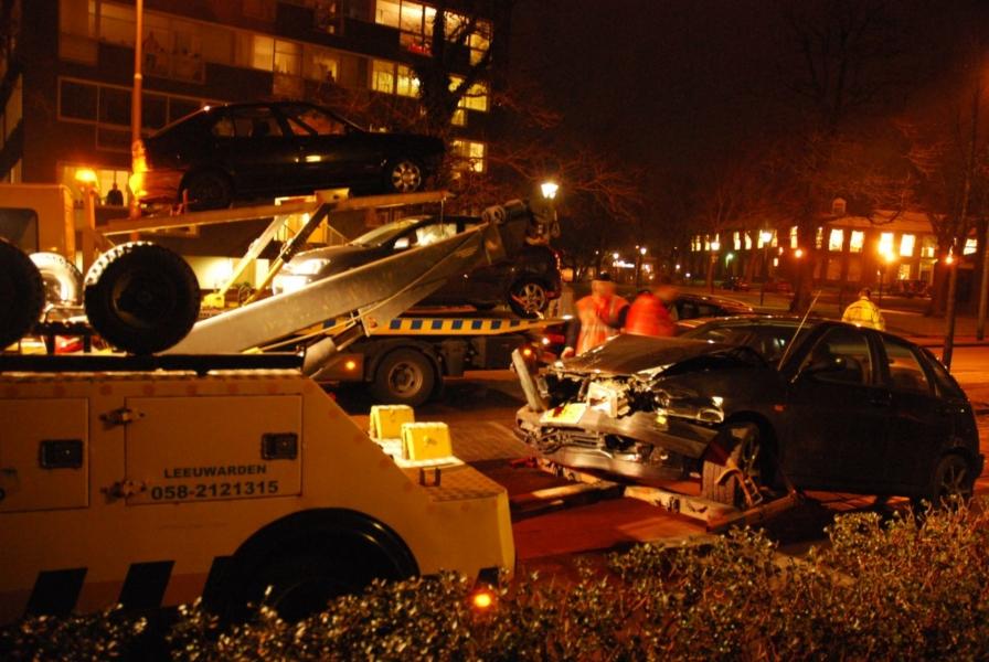 Zestal auto's betrokken bij ongeval