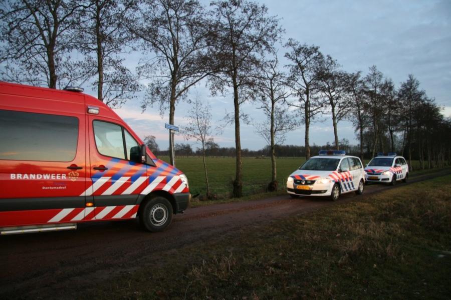 Hulpdiensten massaal uitgerukt voor omgekeerd bootje