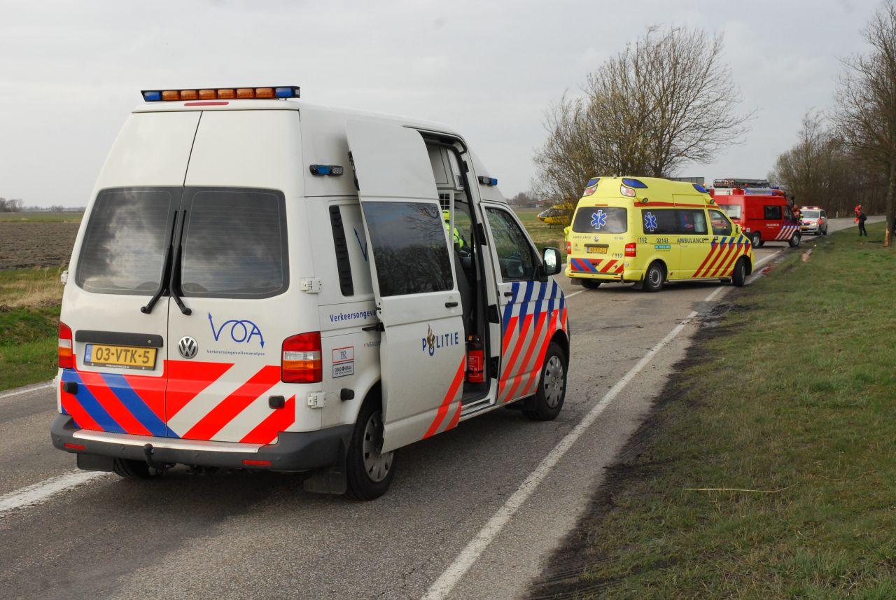 Twee gewonden bij aanrijding Rypsterdyk