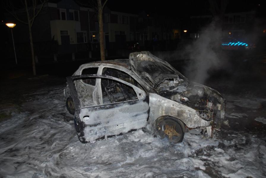 Auto verwoest door brand(Video)