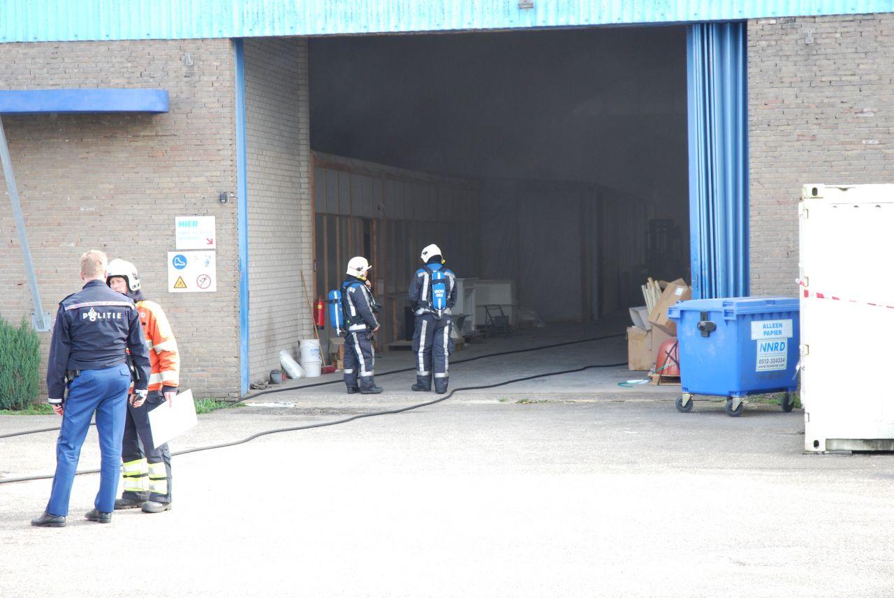 Brand in spuiterij polyesterfabriek