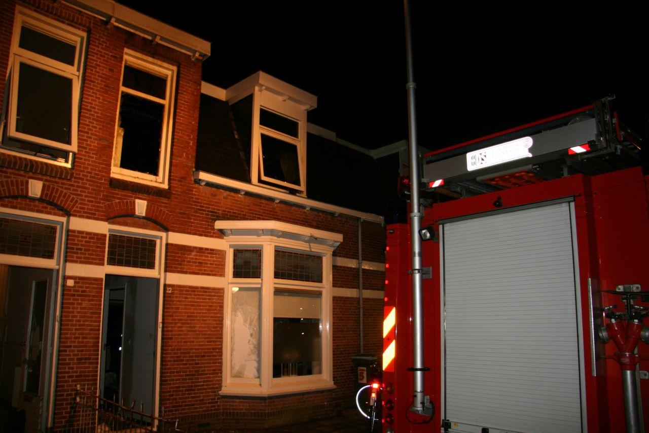 Brand verwoest bovenverdieping