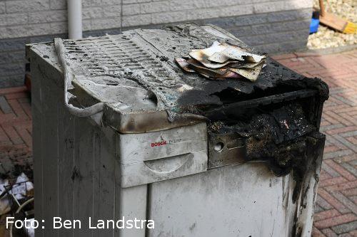 Wasdroger in brand