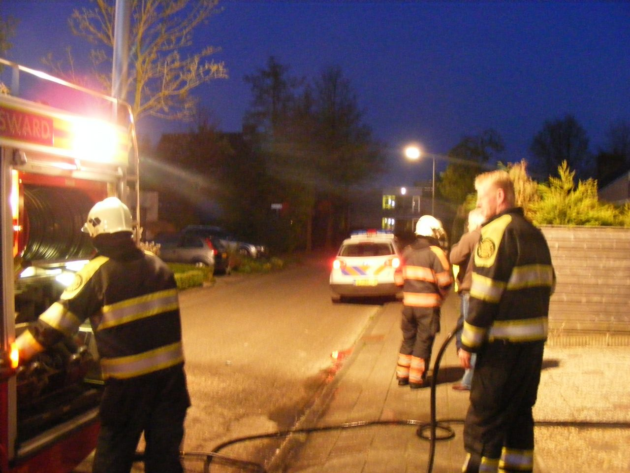 Alweer container in brand