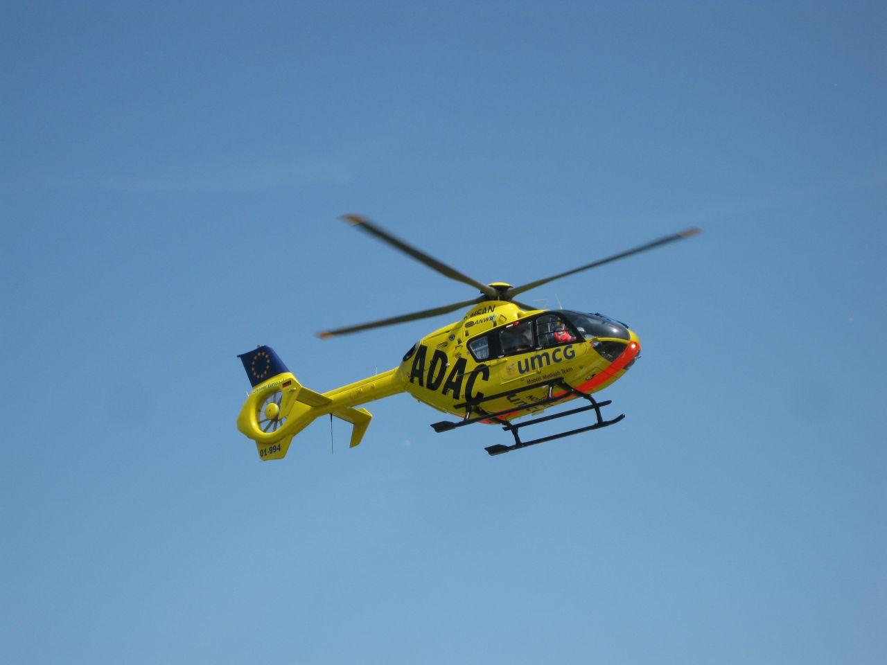 Overplaatsing met traumahelikopter Antonius Ziekenhuis