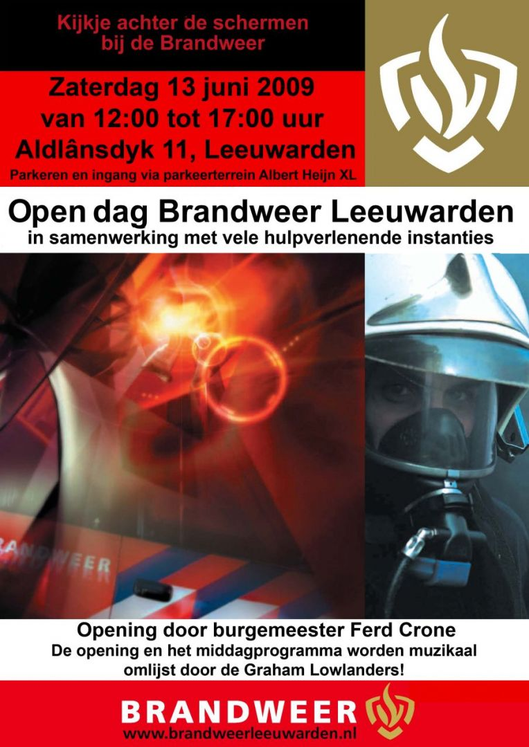 Brandweer Leeuwarden zet deuren open