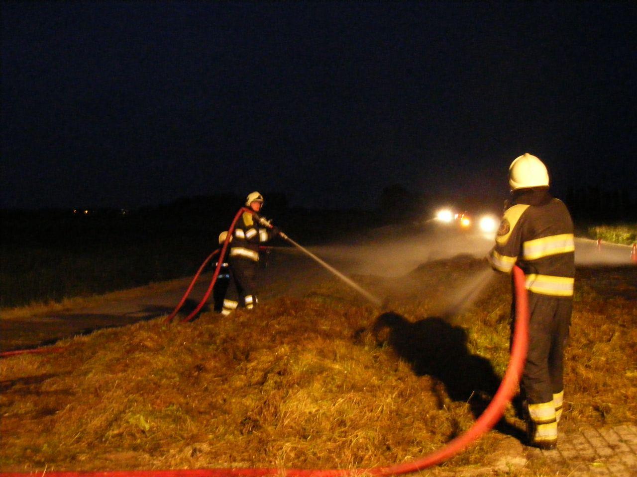 Buitenbrand door hooibroei in Exmorra