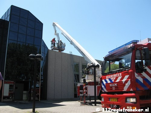 Kleine brand op dak na renovatie