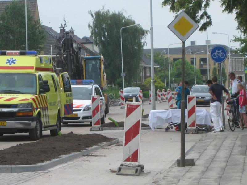 Weer fietser ten val Leeuwarderweg