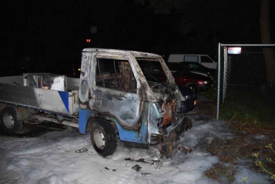 Bedrijfswagen uitgebrand op camping Kleine Wielen