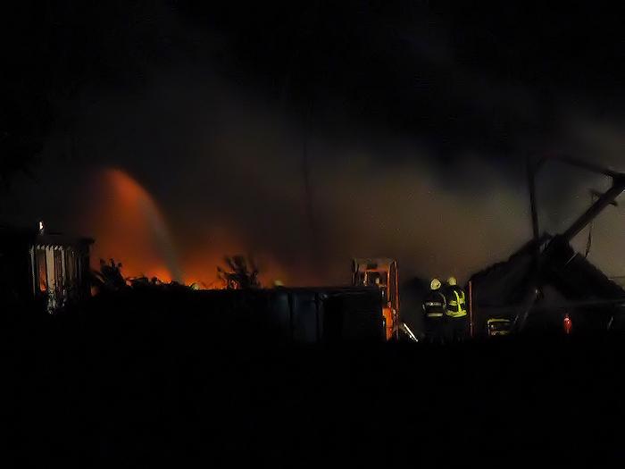 Sloopbedrijf verwoest door brand