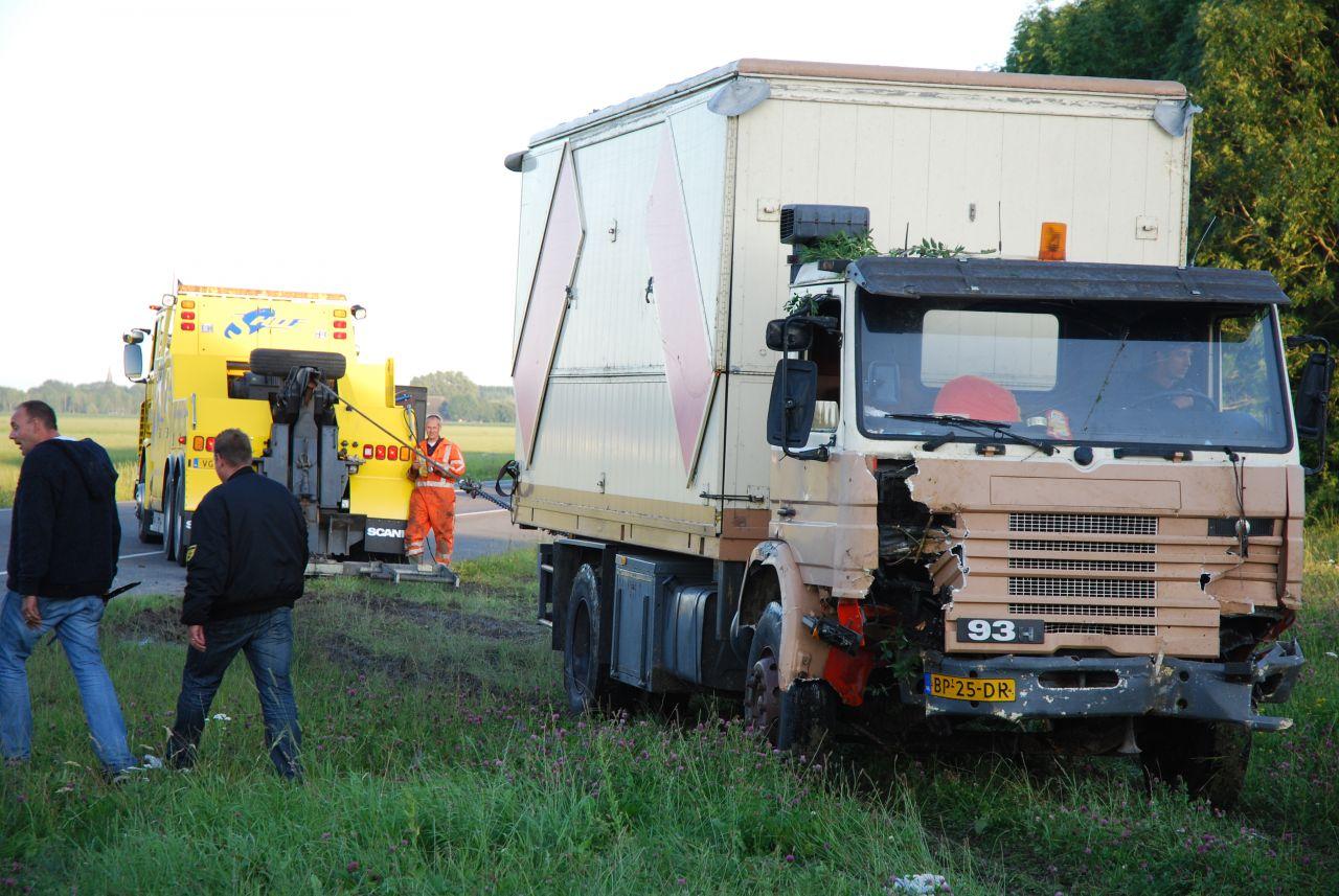 Ongeval met vrachtwagen *Video*