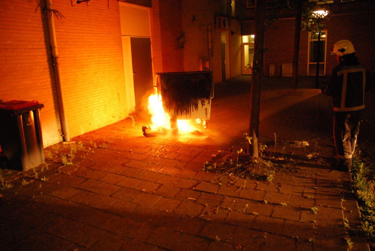 Brandgerucht + containerbrand