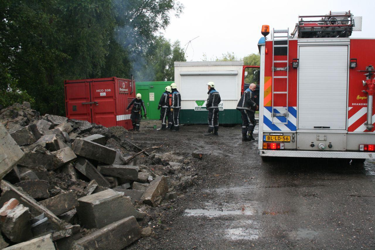 Brandweer rukt uit voor aggregaat