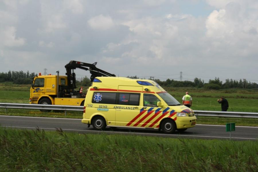 Eenzijdig ongeval op A32