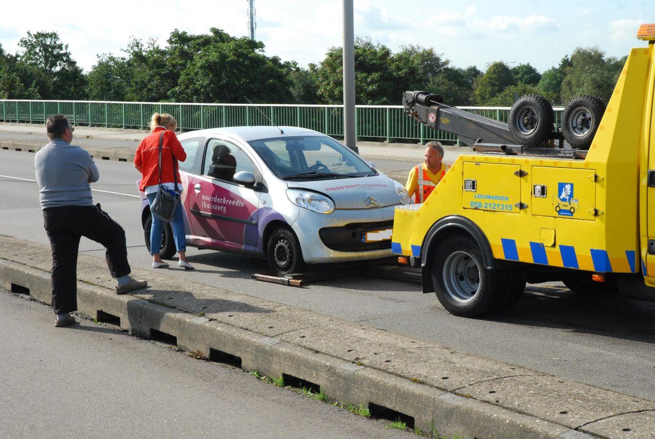 Aanrijding met acht voertuigen