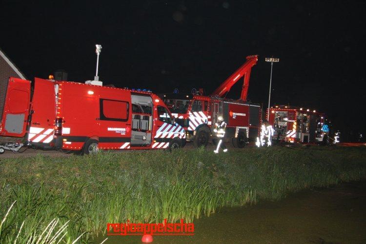 Brandweer Appelscha voor bijstand naar Drenthe
