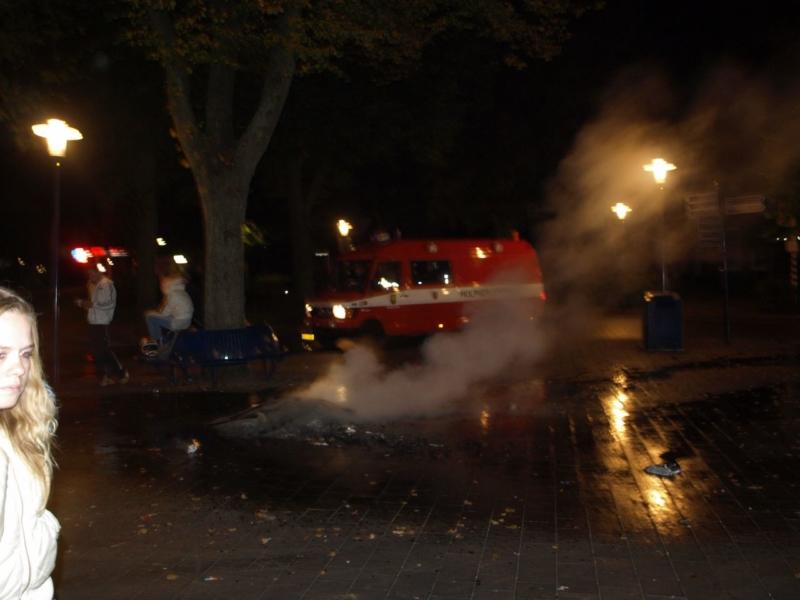 Buitenbrand tijdens lawaaidag