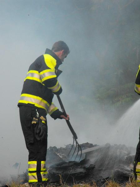 Afvalverbranding zorgt voor brandweerinzet