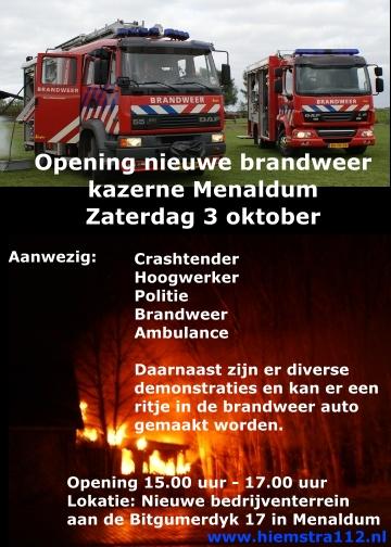 Opening nieuwe brandweerkazerne Menaldum.