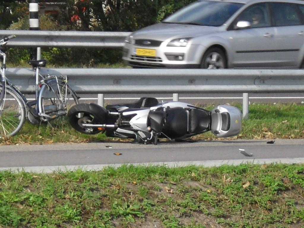 Ongeval fietser & scooter