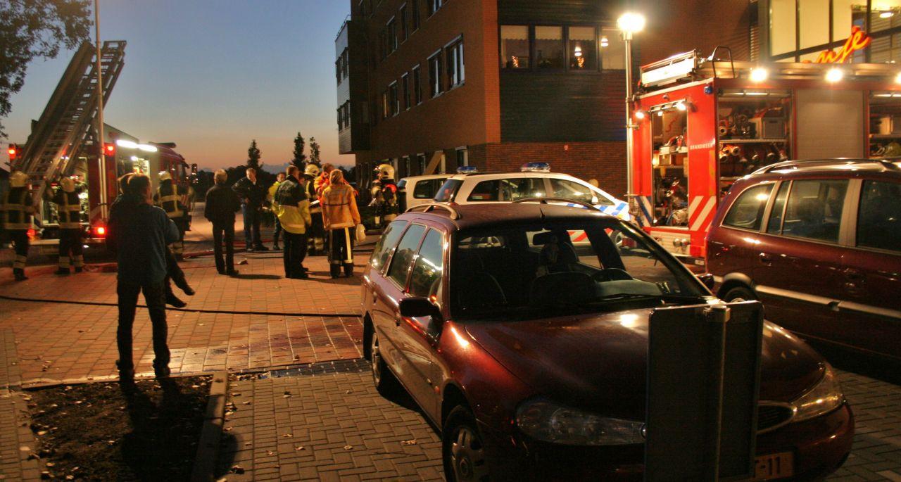 Slaapkamerbrand in appartementencomplex