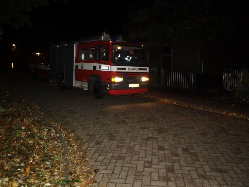 Brand op schoolplein
