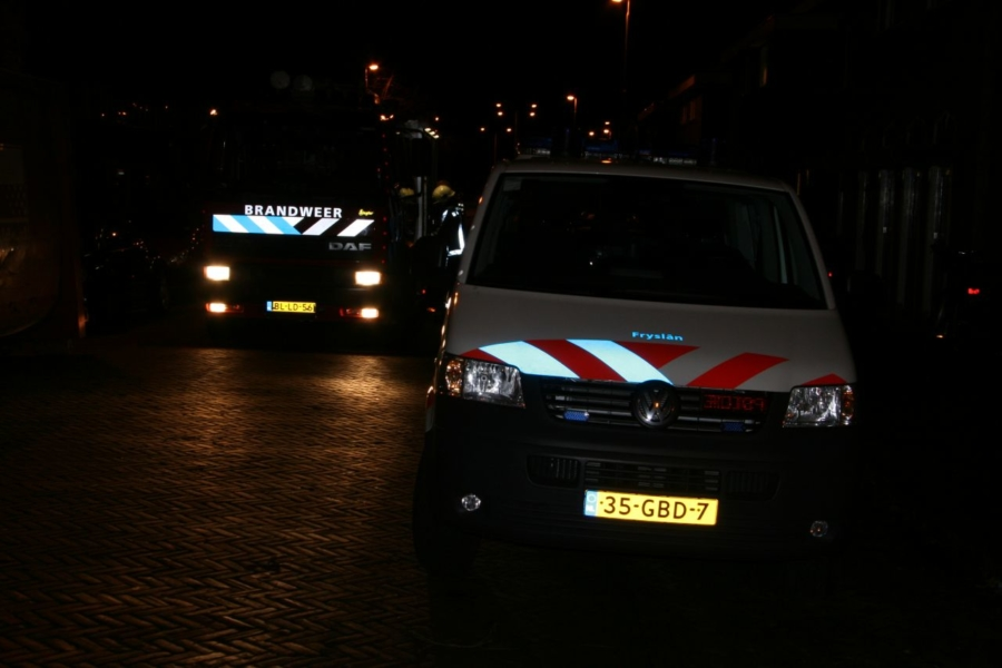 Containerbrand achter woning