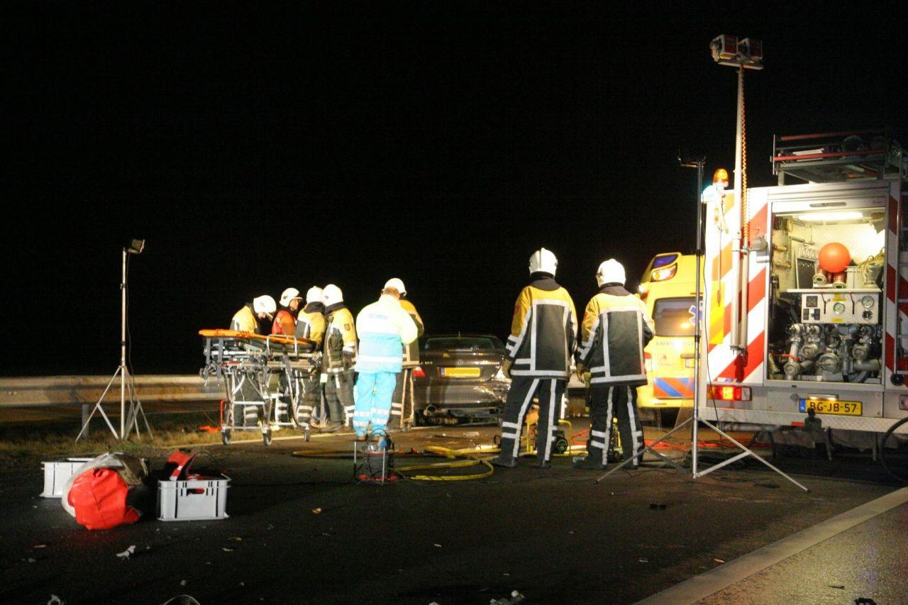 Afsluitdijk afgesloten na ongeval