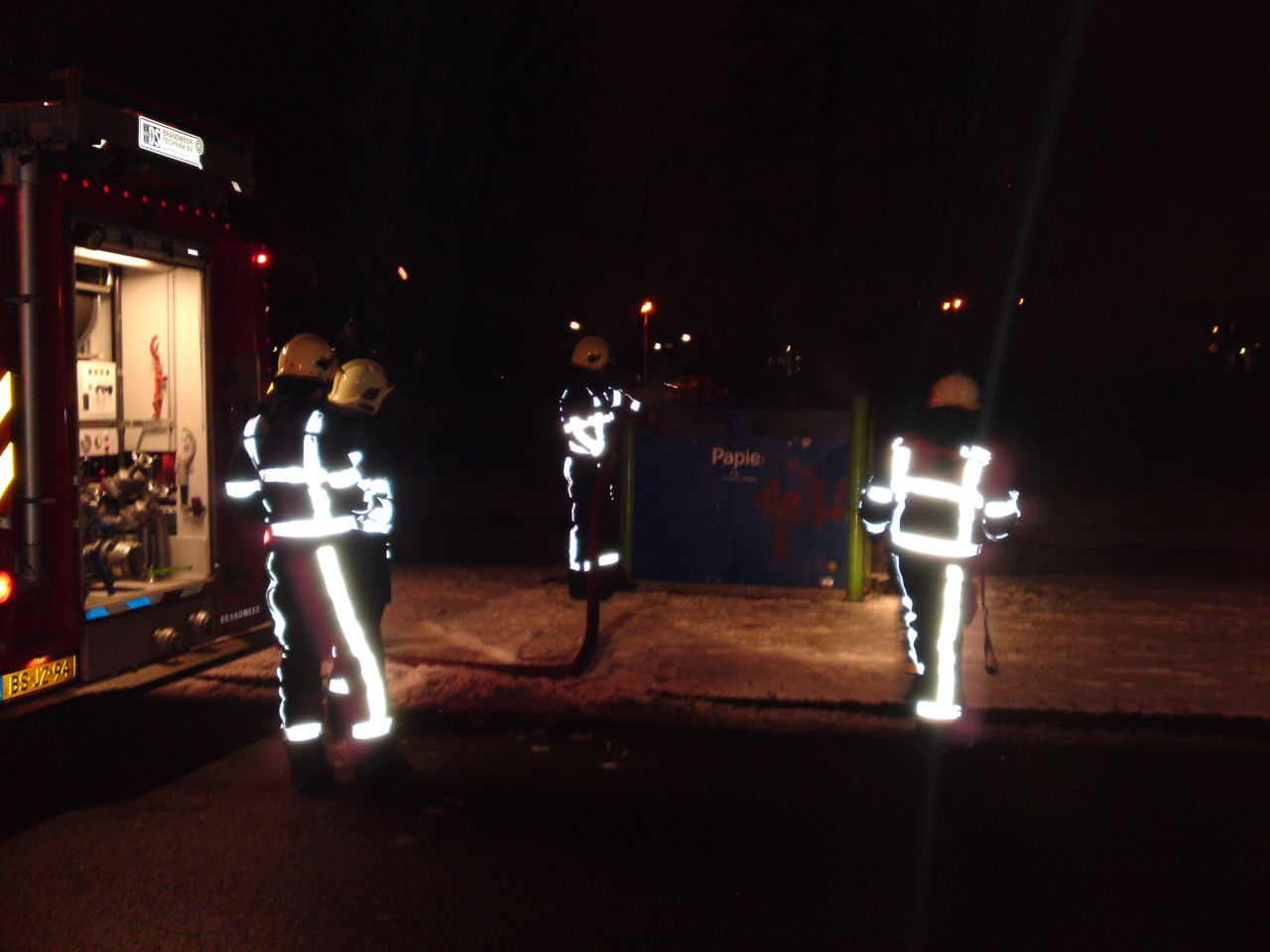 Vier maal containerbrand