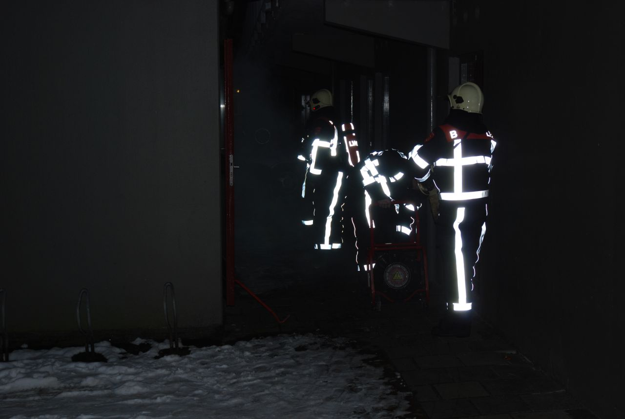 Brand in trappenhal