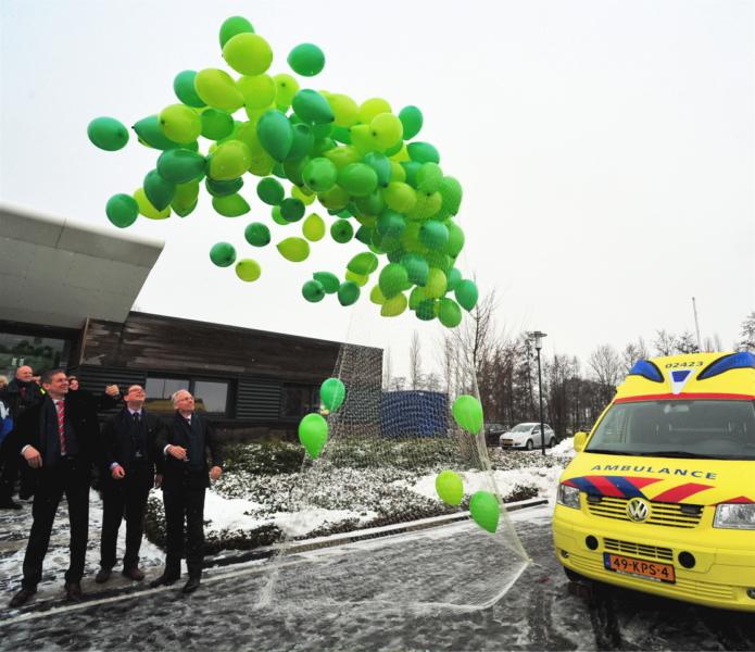 Groengas ambulance onthuld