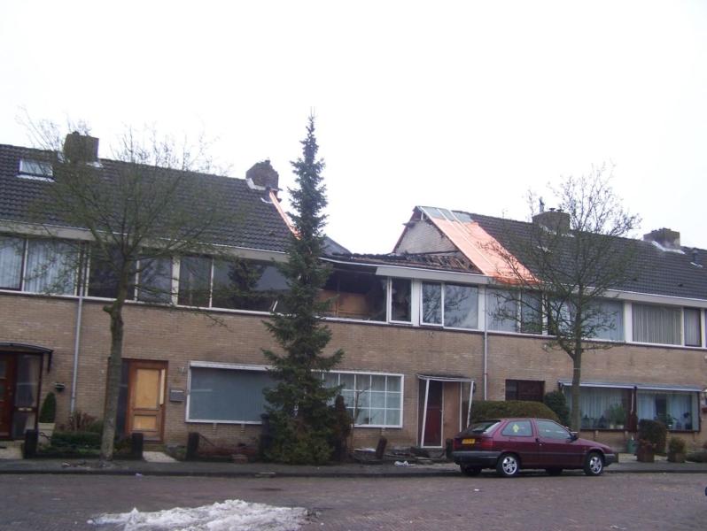 Nacontrole uitgebrande woning