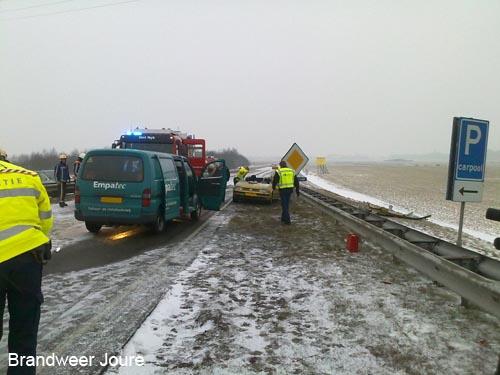 Vijf ambulances ingezet bij ongeval A6