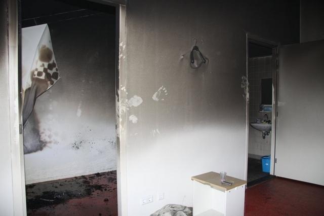 Slaapkamerbrand in zorginstelling