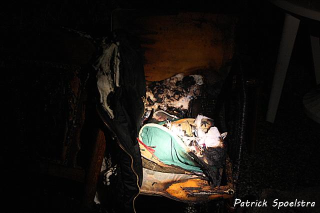 Kat gered bij woningbrand