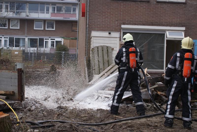 Brandgerucht blijkt brand in sloopwoning