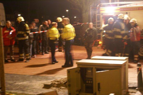 Brandweer rukt uit voor zekeringskast